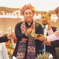 PPP leader, Bilawal Bhutto celebrating with minorities