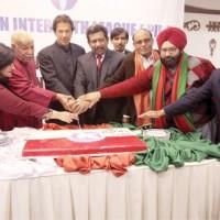 PTI leader Imran Khan celebrates with minorities