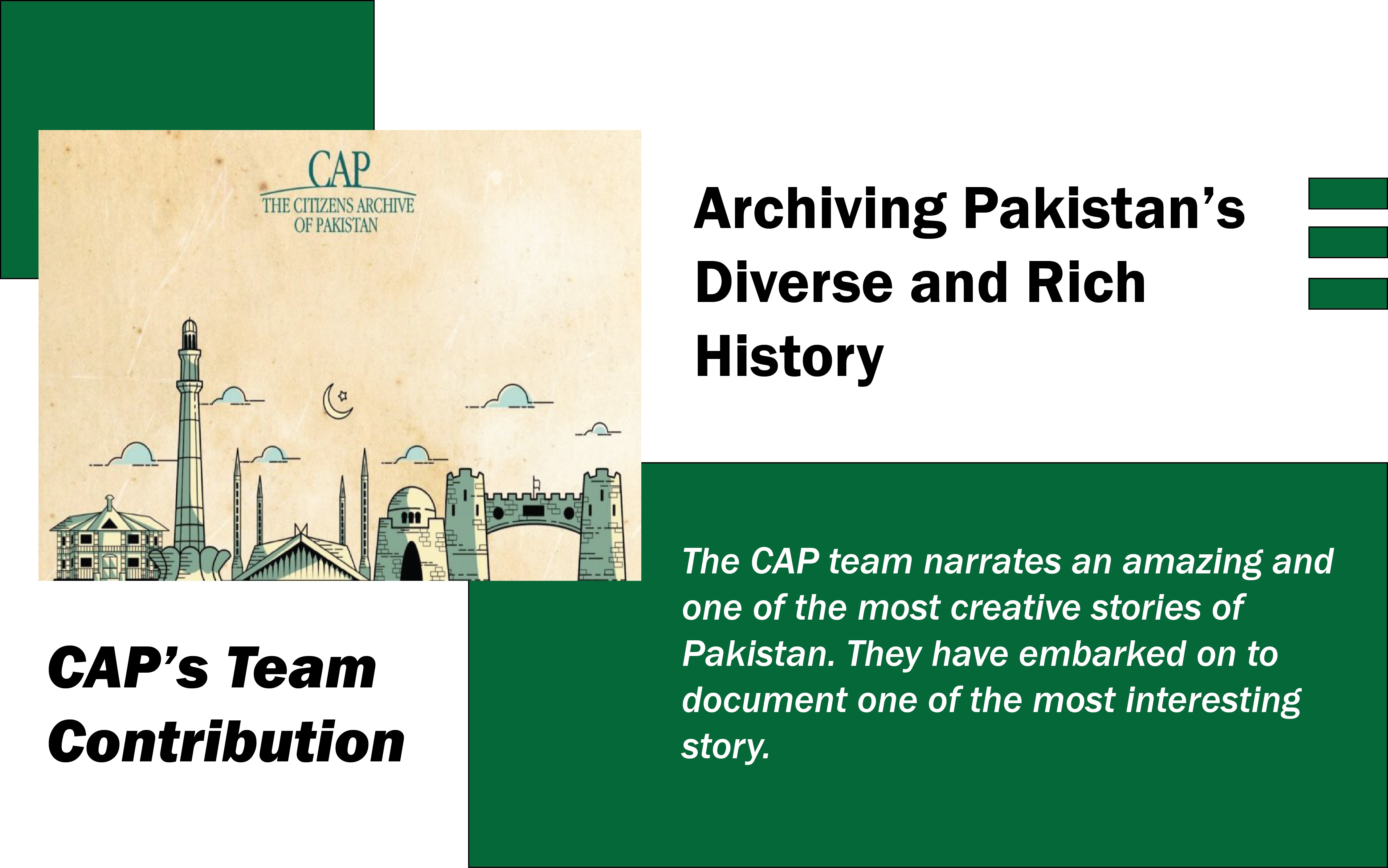 Archiving Pakistan's Diverse and Rich History